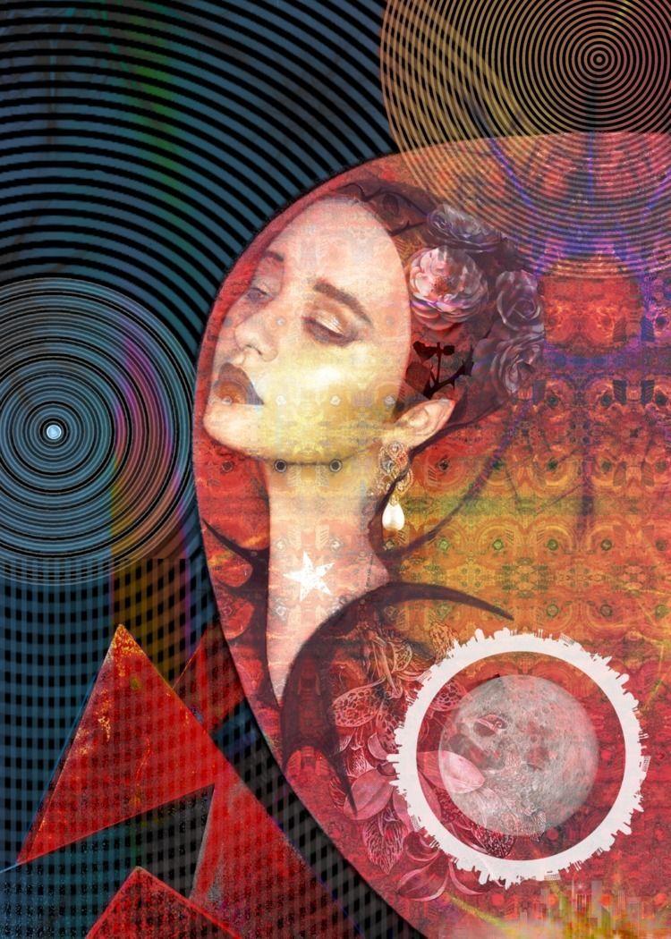 Moon Digital collage - art, digital - marcoosson | ello