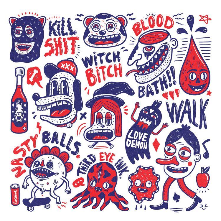 Bloody Mess - illustration, drawing - douglascavanna | ello