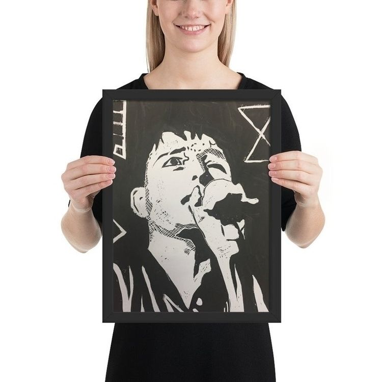Ian Curtis joy division art pri - elluse-studio | ello