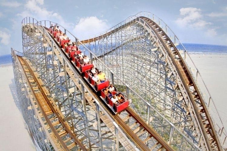 NJ awesome wooden roller coaste - funnewjersey   ello
