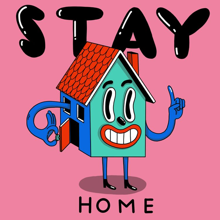 STAY HOME art#illustration#illu - sarahmatuszewski | ello