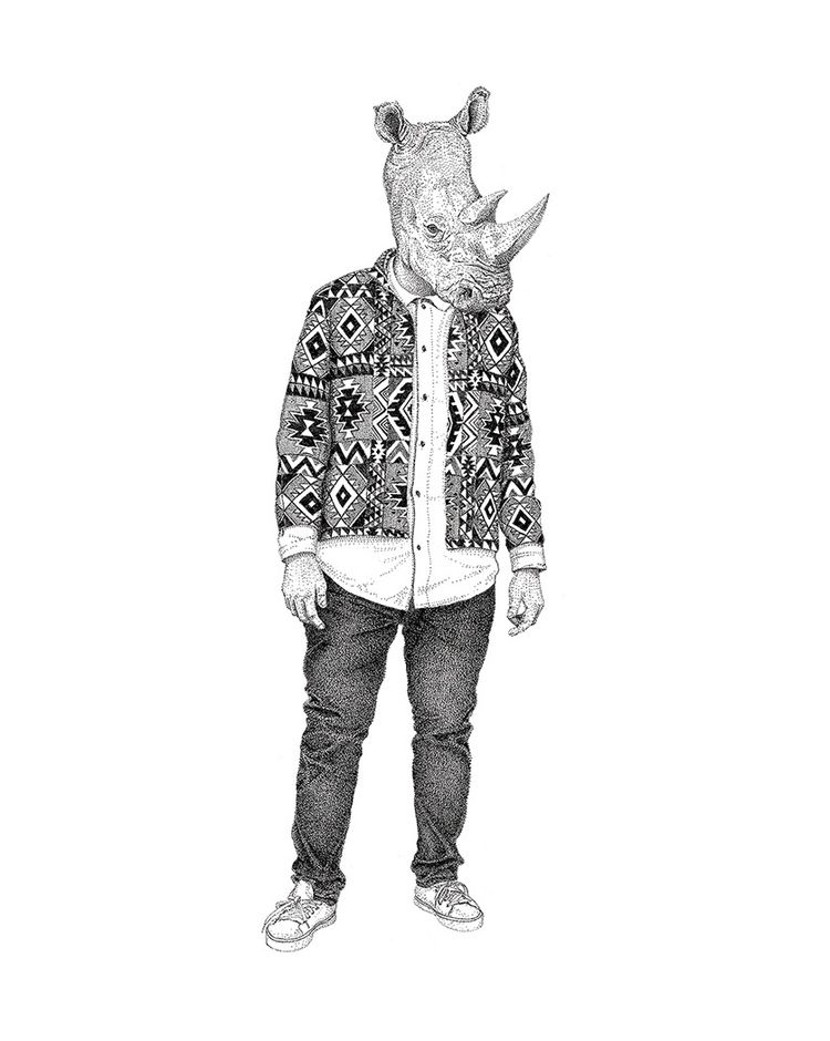 Rhino - urbanjungle, illustration - herre84 | ello