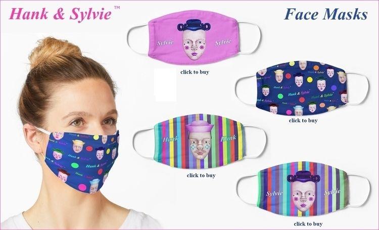 Hank Sylvie Face masks - patrou   ello