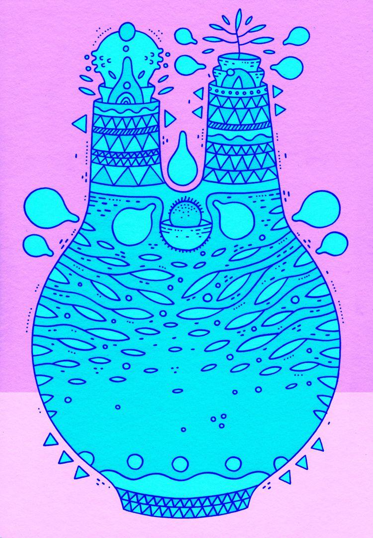 pink blue combo - cosmicnuggets   ello
