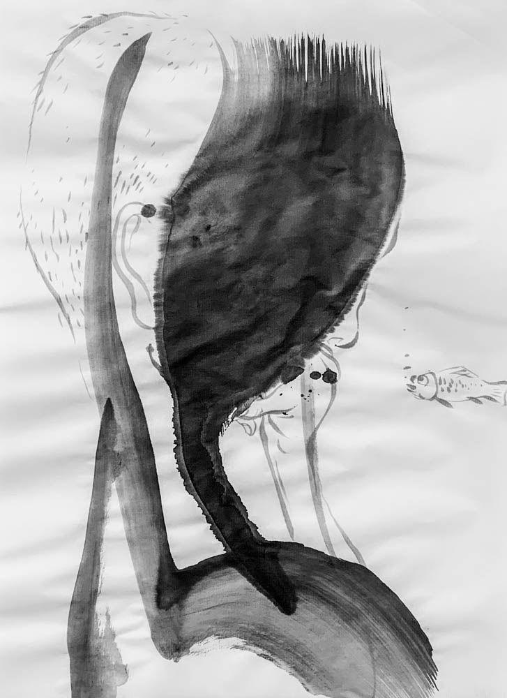 art, ink, sketch, fish, mlui - mlui | ello