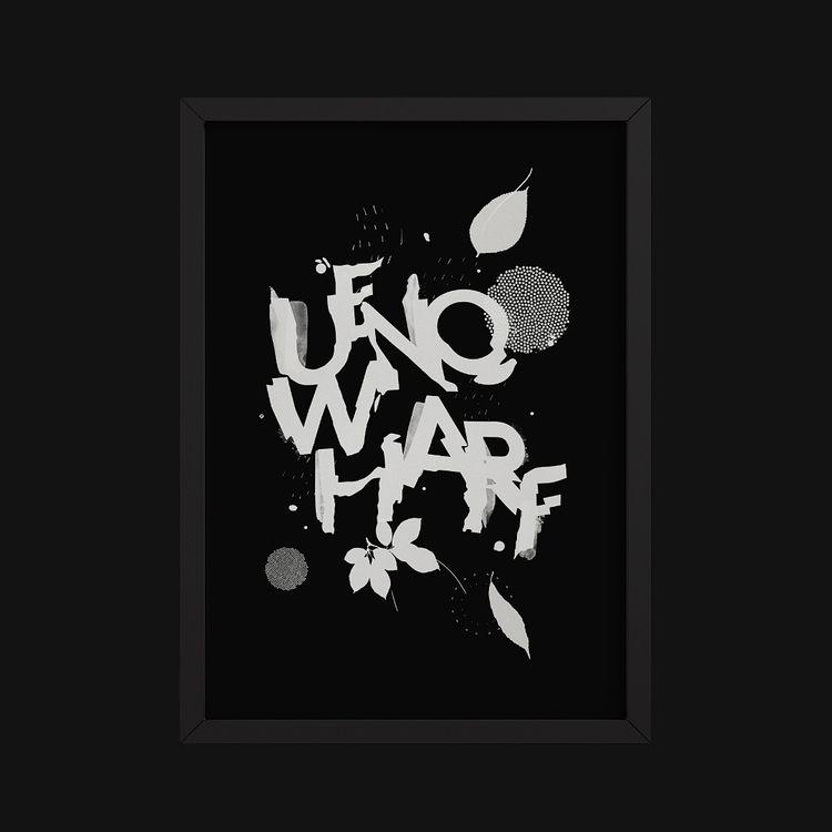 Ueno Wharf II - blackwhite, lettering - pierrickcalvez | ello
