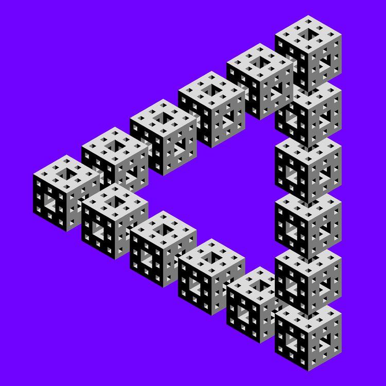 Menger Sponge Penrose Tribar, 2 - tiago_hands | ello