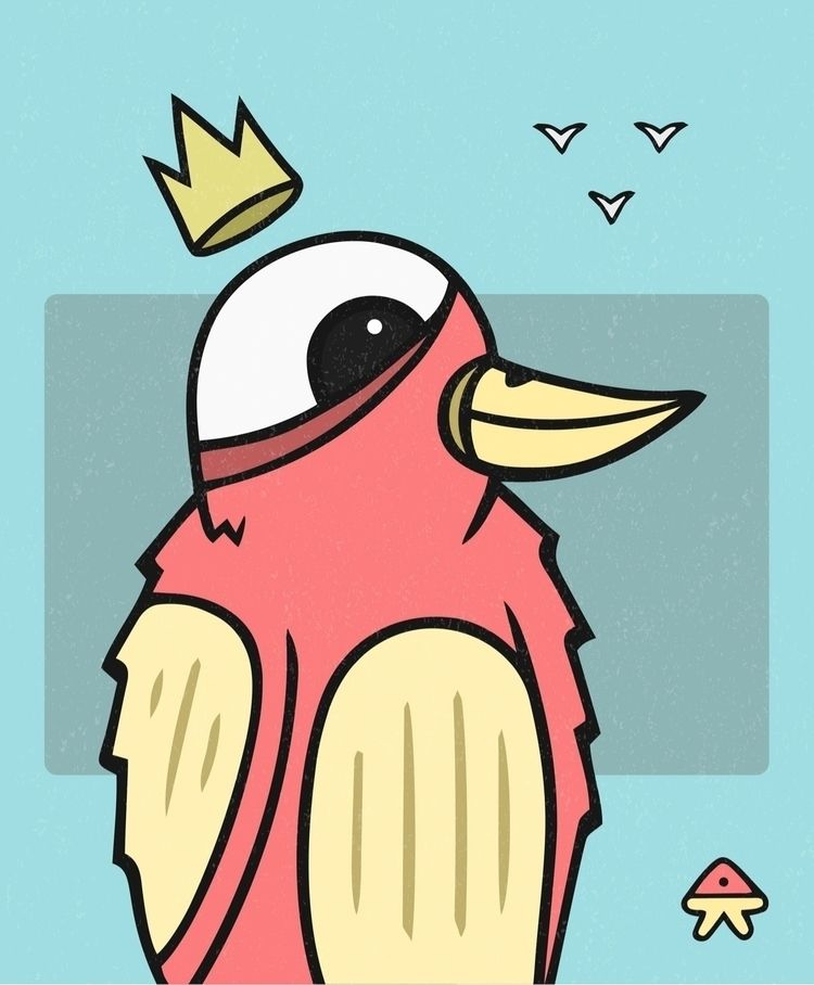 Lil' Birdy Mascot  - illustration - devilishkids   ello