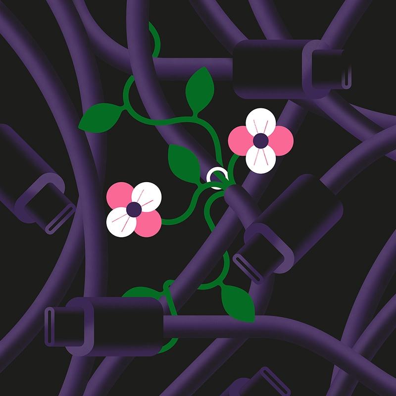 Rewiring - illustration, design - alconic | ello