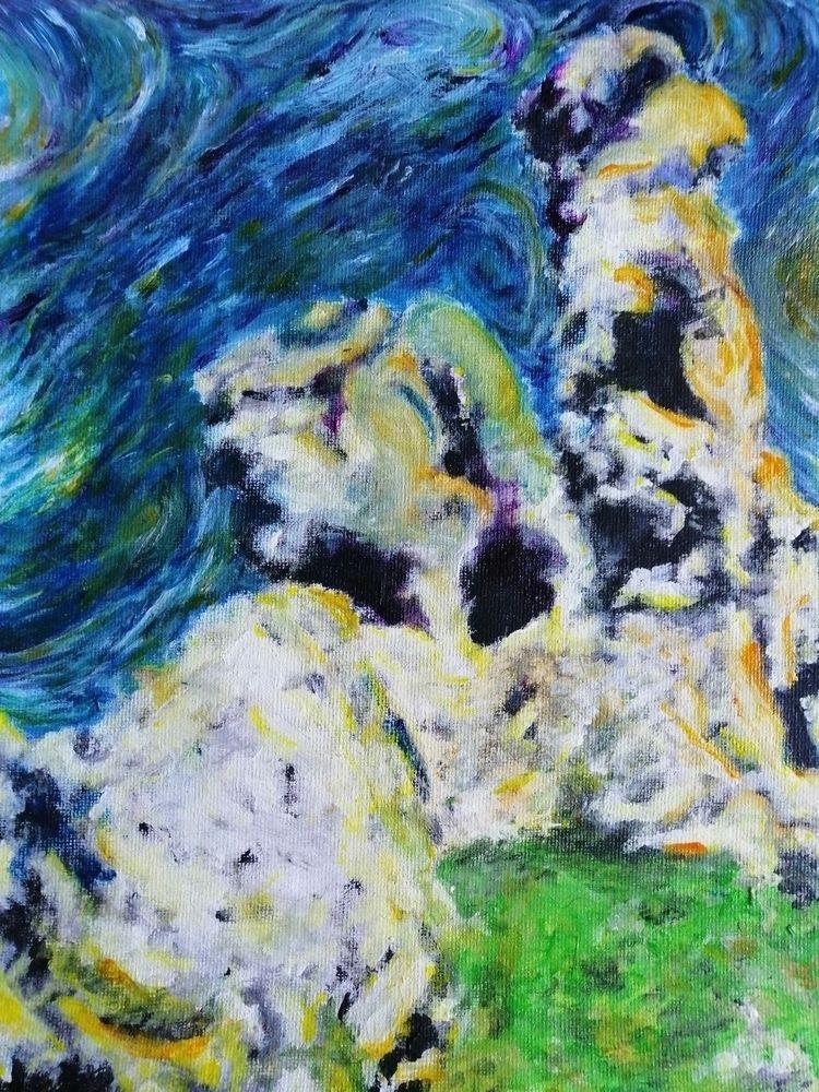 acrilico painting style. Rocks  - kubast | ello