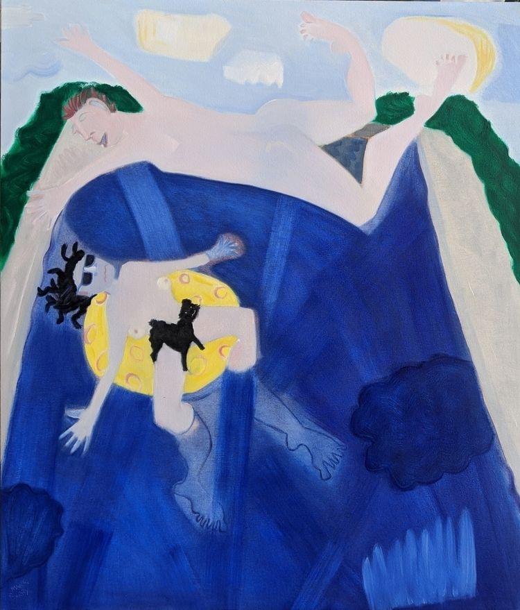 Pool Angel oil/canvas, 54x46 - markbarry | ello