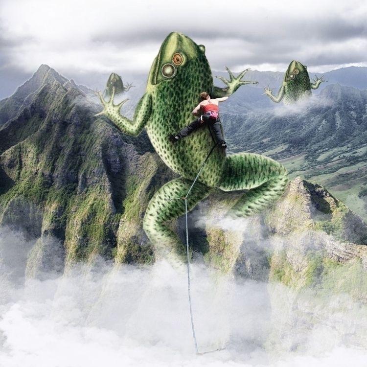 'amphibious ascent' digital col - cripple_flies_dogs | ello
