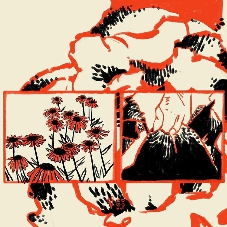 Flora Study:rose::tulip::hibisc - evandileo | ello