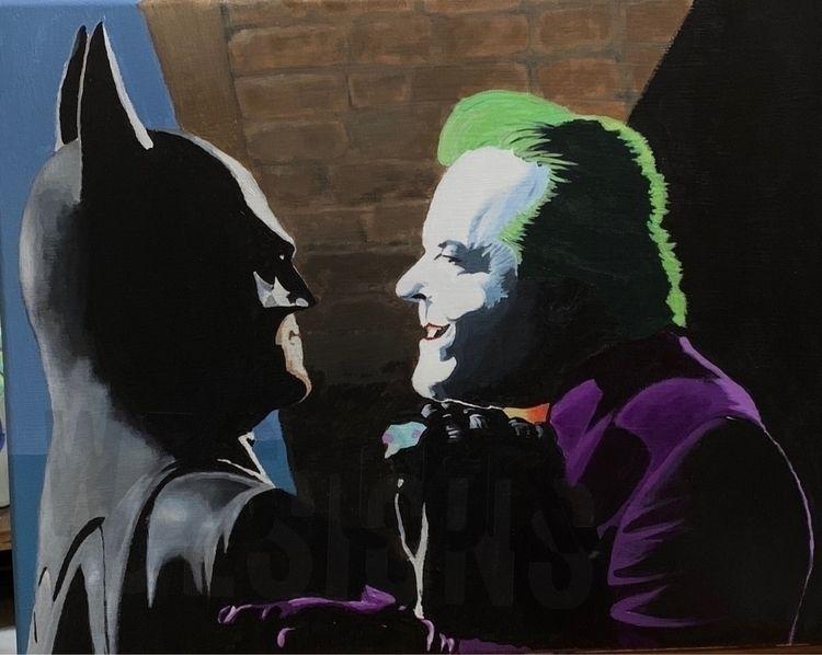 "Jack Joker 20"" acrylic - joker, jack - wcoke | ello"