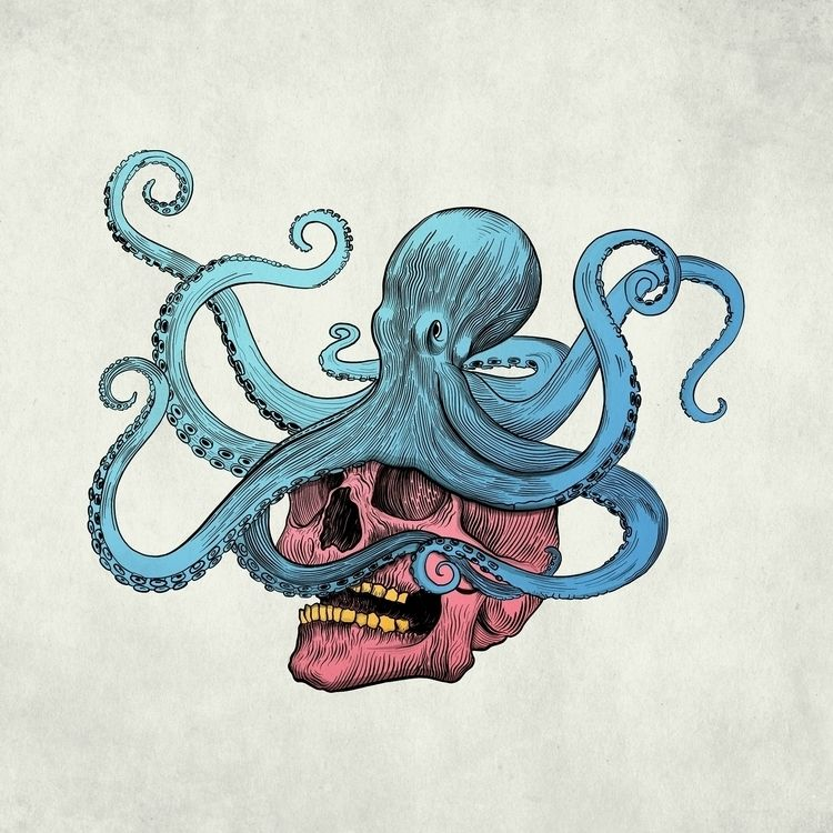 Evil Octopus artwork days uploa - brokoola   ello