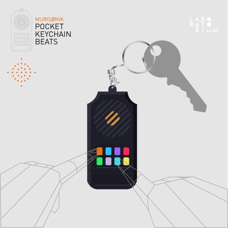 Pocket Keychain Beats Design: M - murisfixon   ello