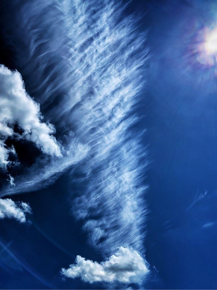 Tail - photography, clouds, blue - davidhawkinsweeks   ello