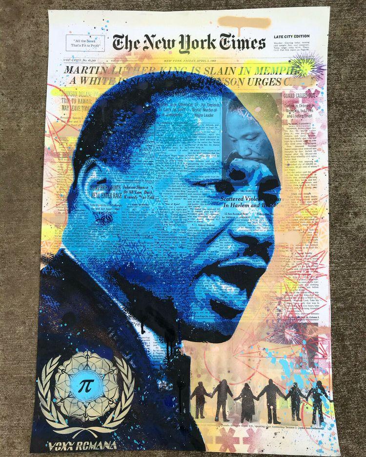 Martin Luther King Jr. Painting - voxxromana | ello