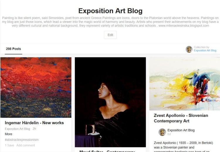Exposition Art Blog invite pres - expositionartblog | ello