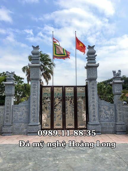 Lắp đặt cột cổng đá nhà thờ họ  - damynghehoanglong | ello