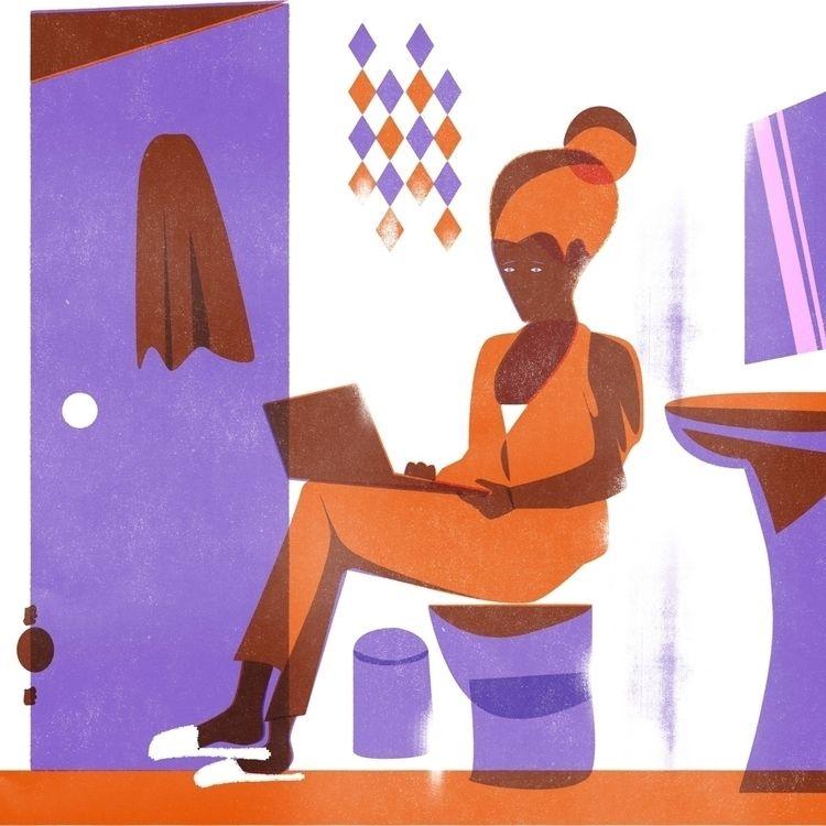 Work 2020: home office - illustration - martinillustrates   ello