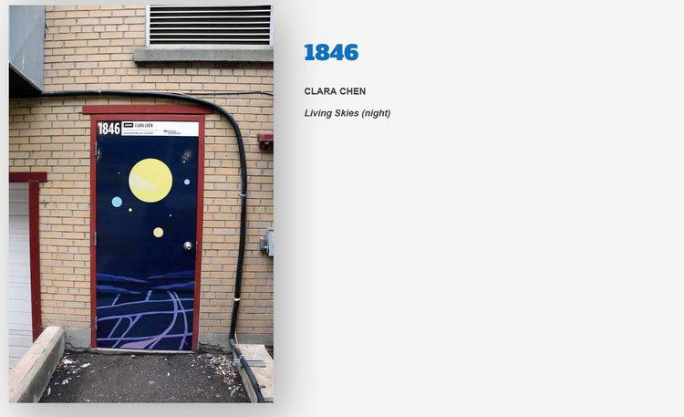 Alley door mural Regina Downtow - cyberspacevoid | ello