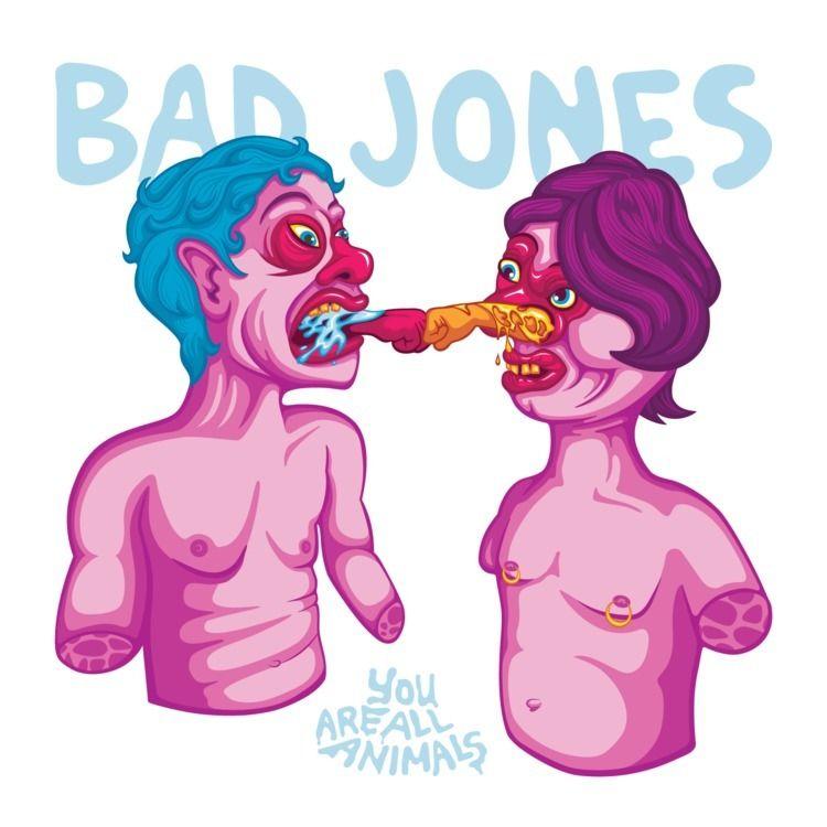 Album cover Bad Jones - illustration - girlskin | ello