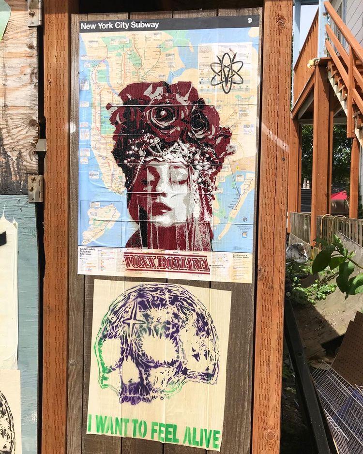 Portland street art 2020 work S - voxxromana | ello