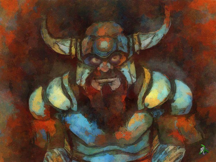 Viking Revisiting drawing origi - matheusbarrosarts   ello