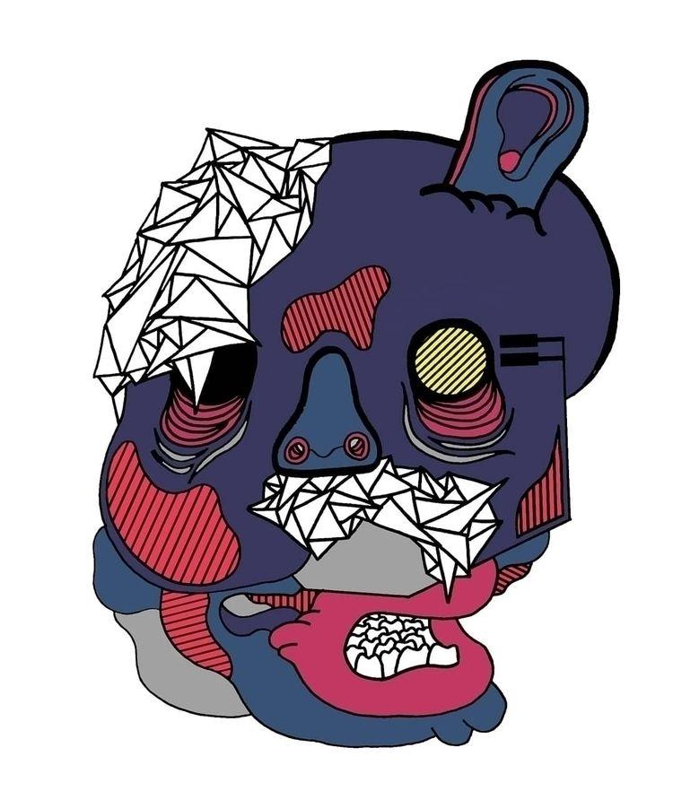brand face - illustration, digitaldrawing - rabatzzz | ello