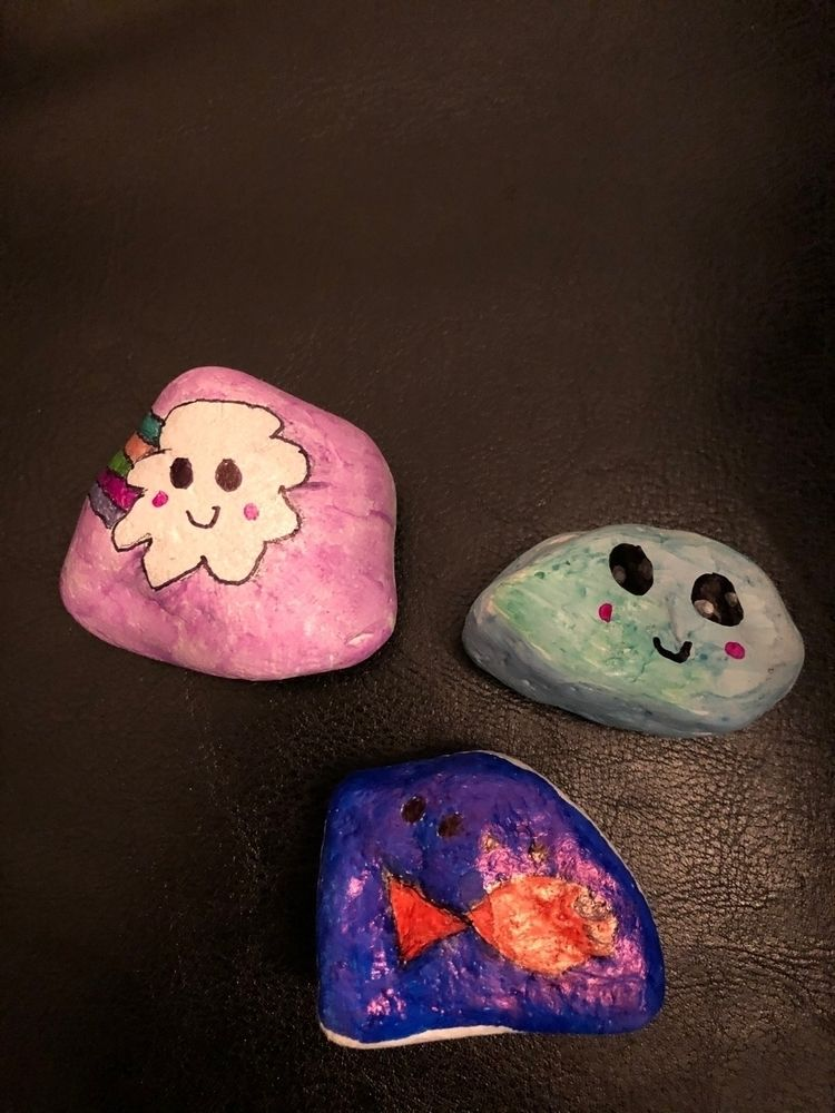 Painted rocks day hidden - art, painted - pip_and_shooters   ello