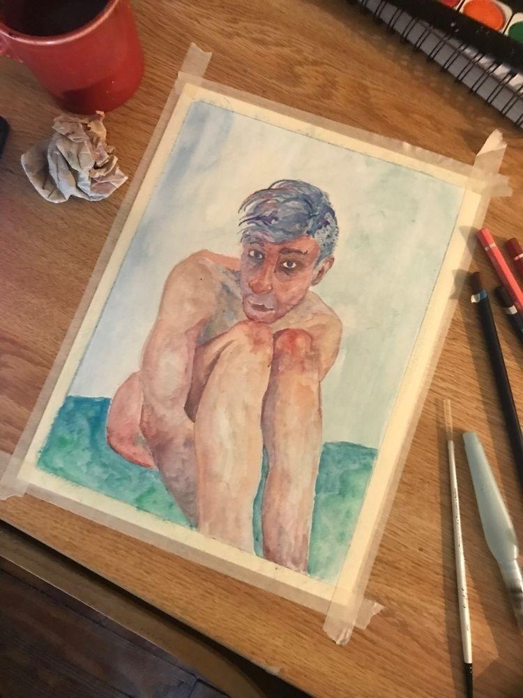 Bathtub Isolation - watercolor, watercolour - gravesart | ello