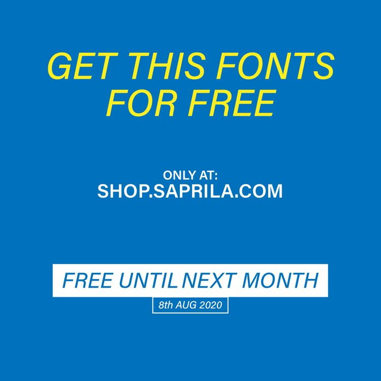 Gonna share fonts free, downloa - saprila | ello