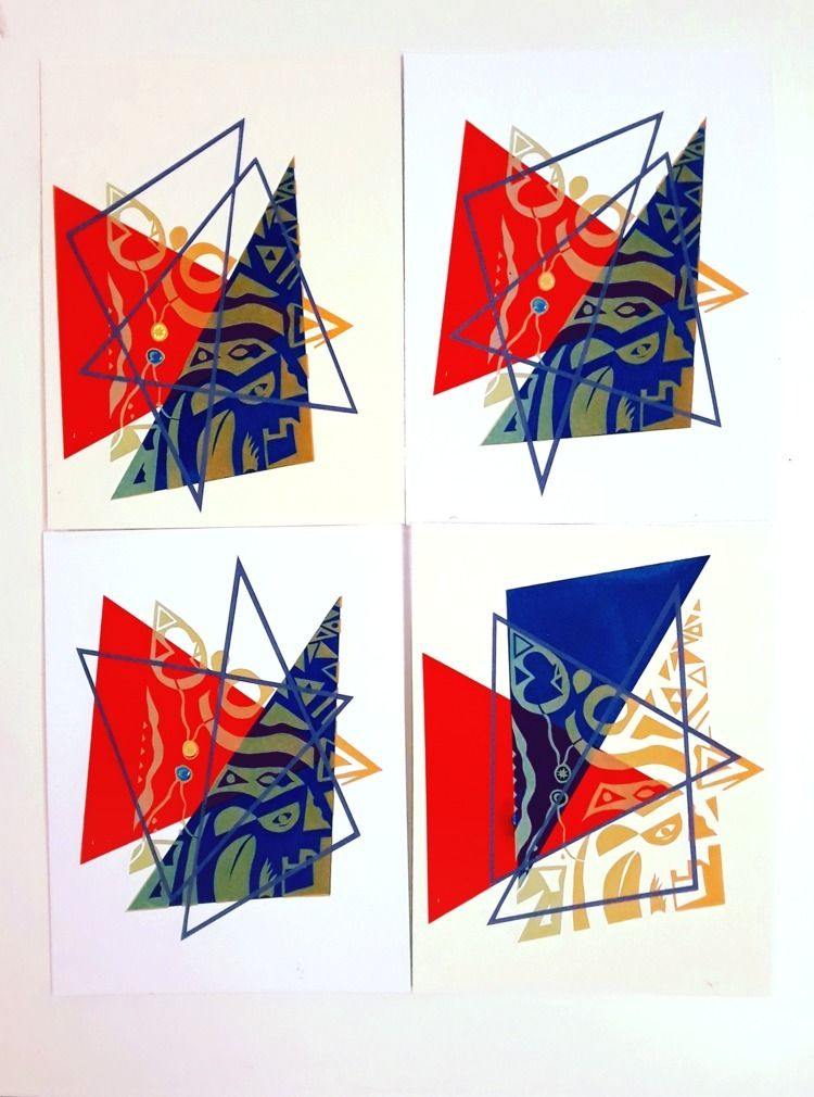 Loving Blue Abstraction based p - kaupaint   ello