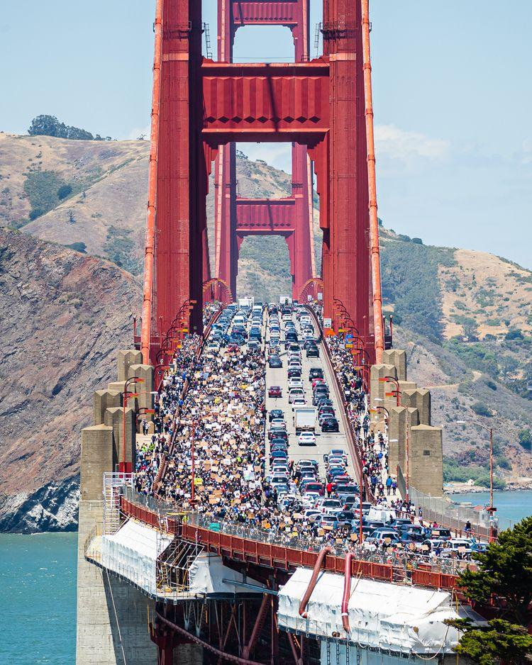 BLM March - Golden Gate Bridge  - tobyharriman | ello