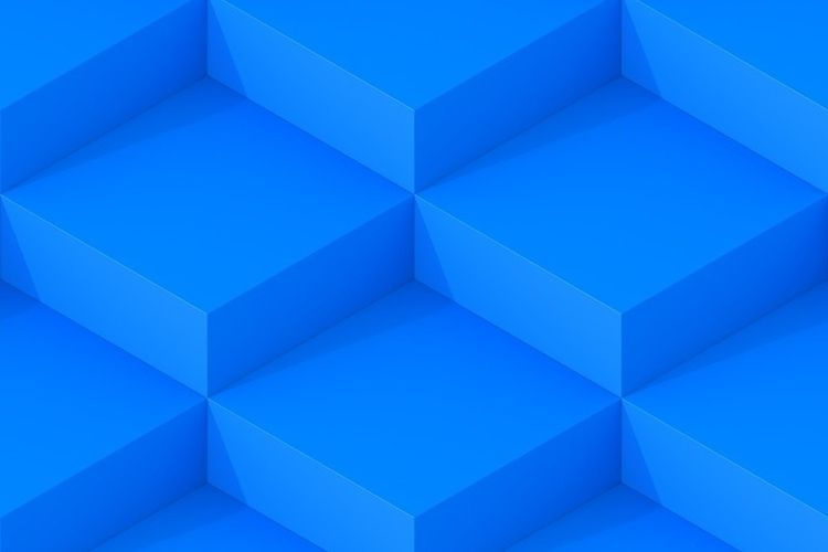 Blue Square Abstract Background - dmitrykovalev   ello
