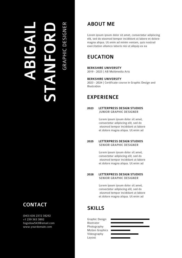 Amazing Resume/CV Design Templa - designer_sourav | ello