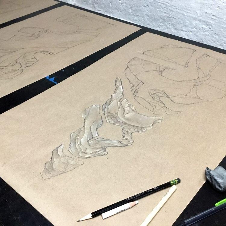 Working triptych - art, sketch, Baltimore - oliver-witness | ello