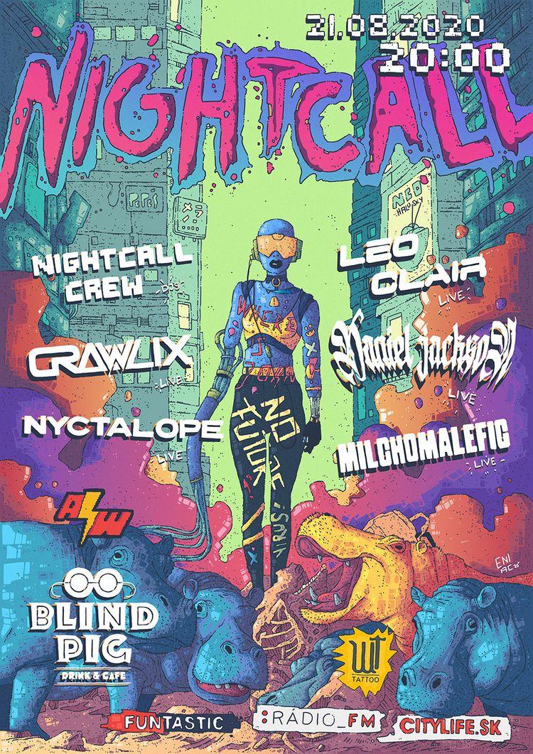 Nightcall synthwave party Brati - artereniac | ello