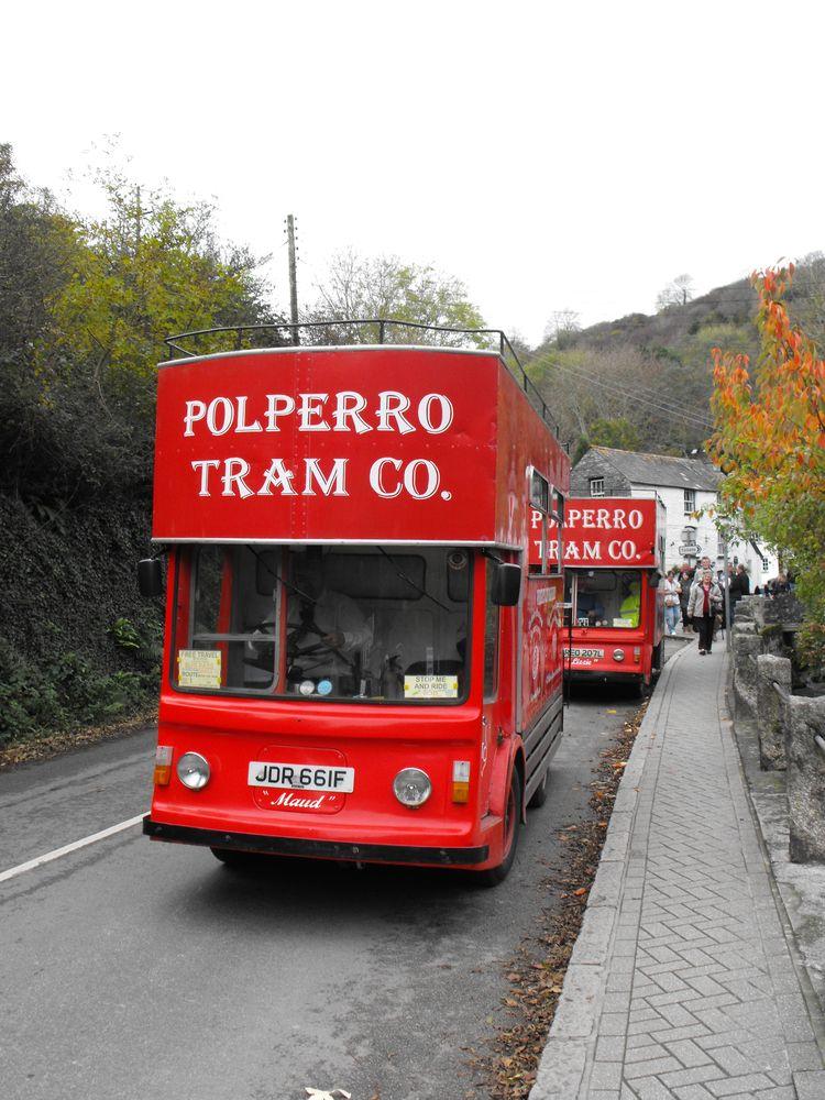 cornish red bus richard - painterman5   ello