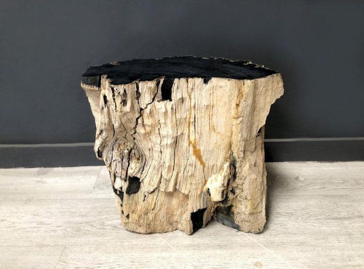 Mesita de Madera Fosilizada en  - arrelart | ello