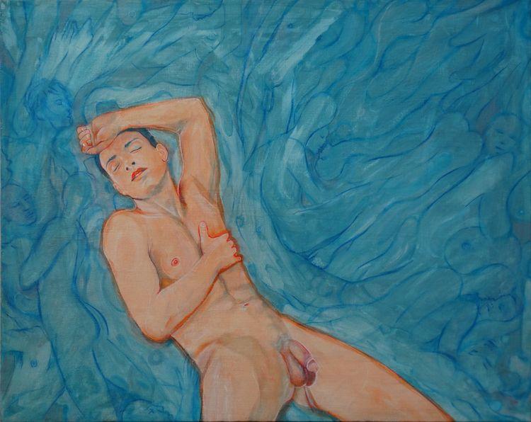 Icare Acrylic Canvas 40 cm 50 4 - loic-le-phoque-fringant | ello