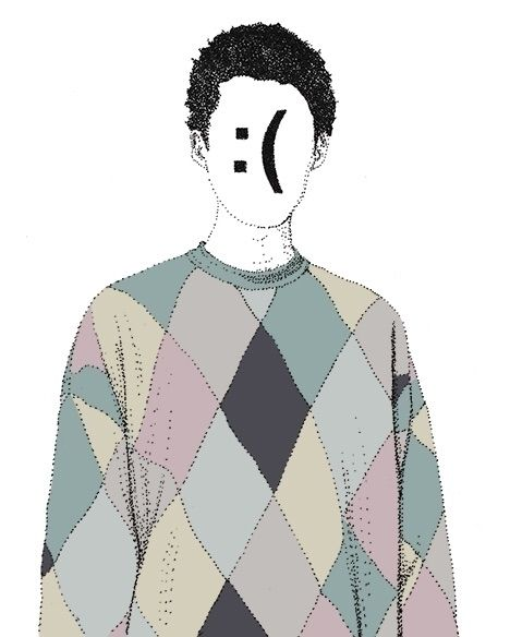 Sad - illustration, portrait, facetext - herre84 | ello