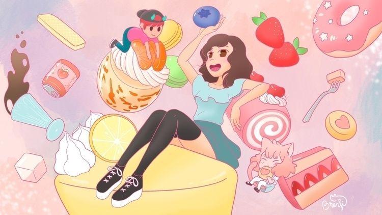 pastries, pink, aesthetic, desserts - brenfi   ello