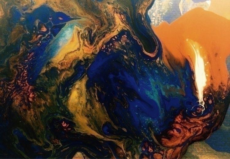 DEEP SPACE SOUL fluid paintings - degallusart | ello