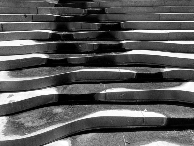 Wet Steps - photography, stair, water - ivop | ello