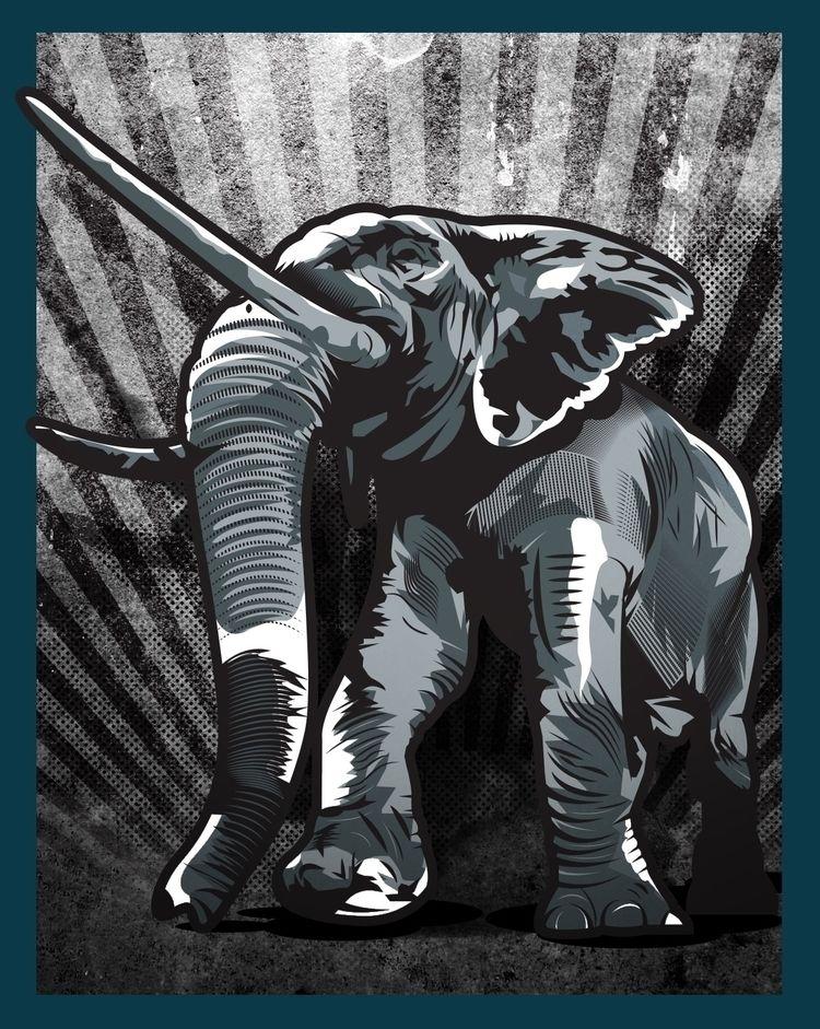 elephant, illustration - krustofsky | ello