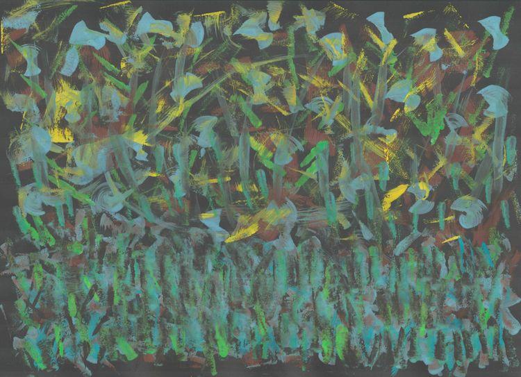 SunnyForest - tempera, abstract - vahupe | ello