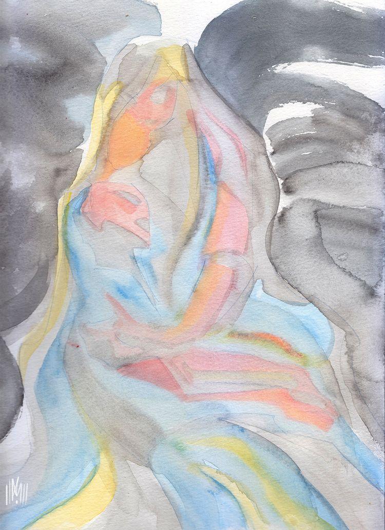 pieta - watercolor, illustration - dlovelace | ello
