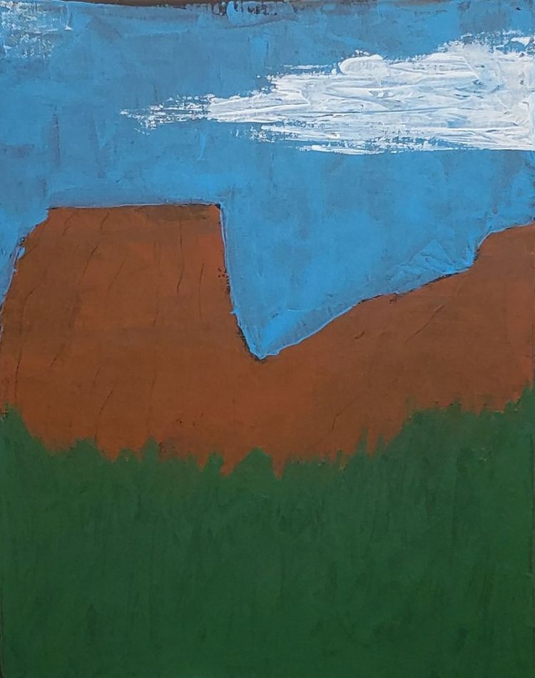 Landscape 11 14 acrylic canvas  - toilz | ello